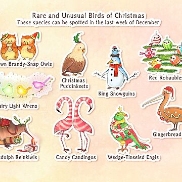 Rare and Unusual Birds of Christmas by AliciaMB