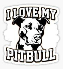 I Love My Pitbull Stickers Sticker