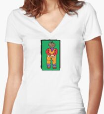 Kids t Series- Green Women's Fitted V-Neck T-Shirt