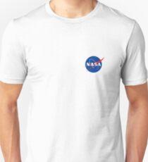 Nasa-Logo auf der Brust Slim Fit T-Shirt