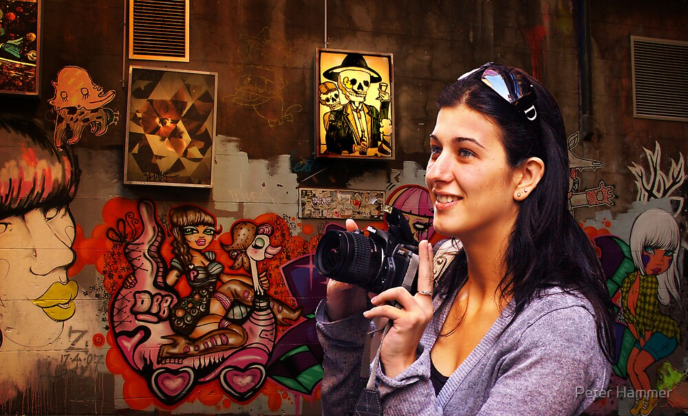 Focussing on the graffiti by Peter Hammer