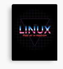80's inspired Linux design Canvas Print