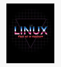 80's inspired Linux design Photographic Print