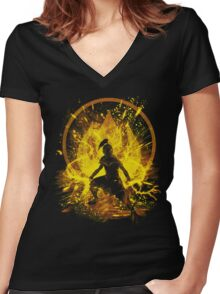 fire prince Women's Fitted V-Neck T-Shirt