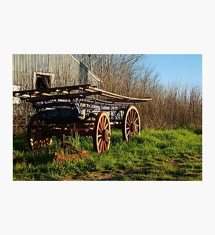 Old Cart, Ascot Victoria Photographic Print
