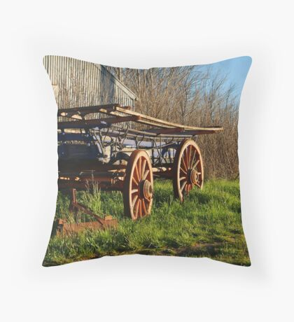 Old Cart, Ascot Victoria Throw Pillow