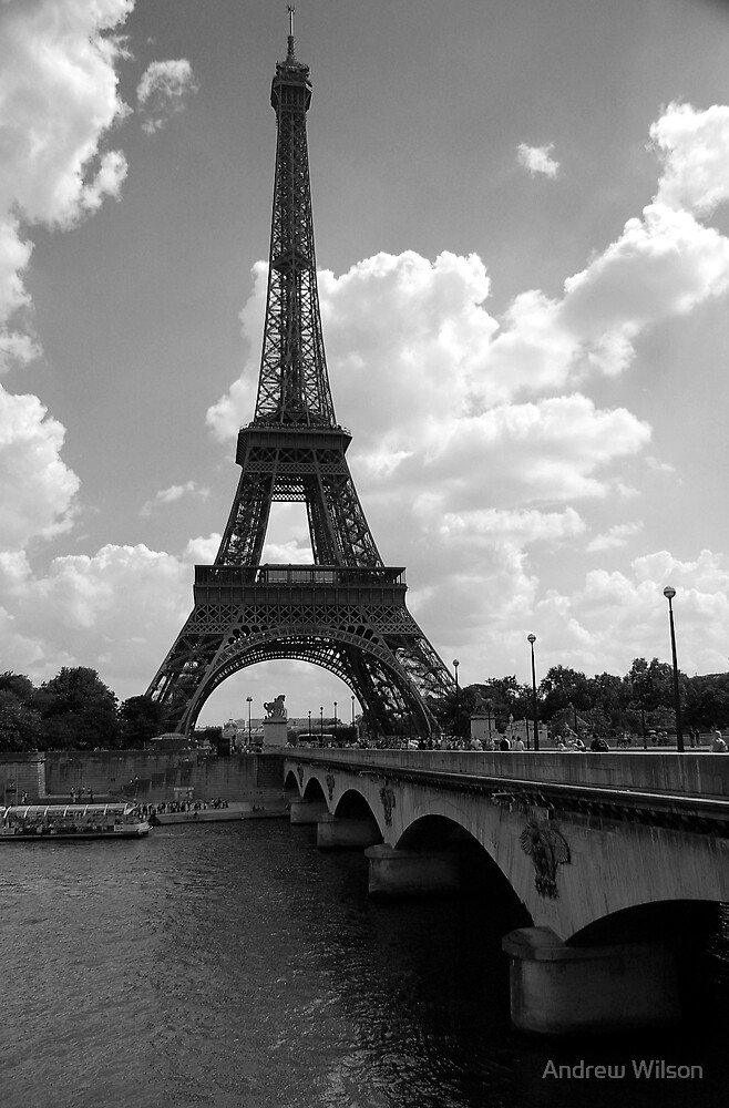 Tower across the Seine by Andrew Wilson
