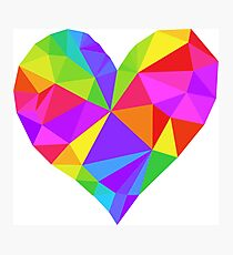 Colorful Heart Photographic Print