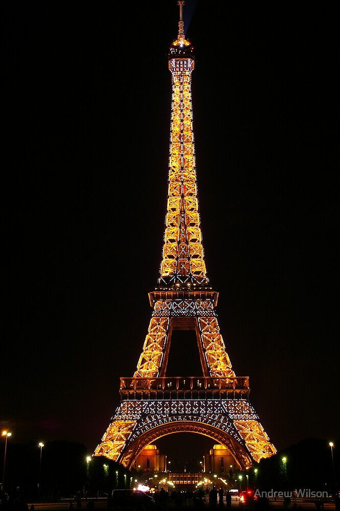 Eiffel at night by Andrew Wilson