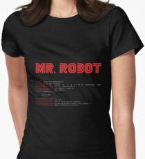MR ROBOT fsociety00.dat Women's Fitted T-Shirt