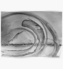 Pottwal vor Insel Pico - Farbe schwarz/weiß Poster