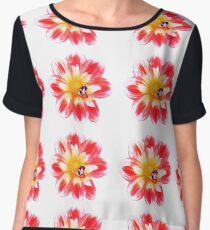 flower bee buzz (repeating) Chiffon Top