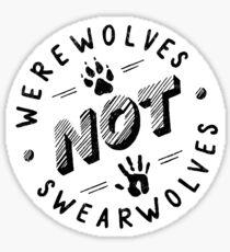 Pegatina Hombres lobo no Swearwolves