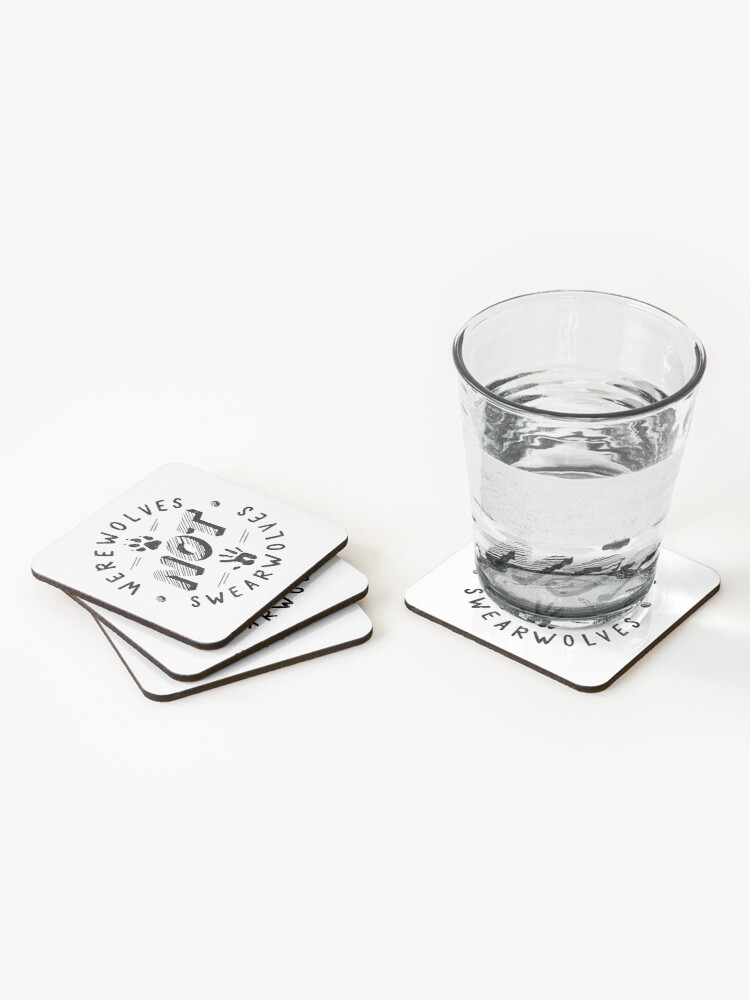 Alternate view of Werewolves not Swearwolves Coasters (Set of 4)