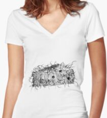 Cheese Women's Fitted V-Neck T-Shirt