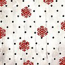 Christmas Snowflake Polka Dot Pattern by mindydidit