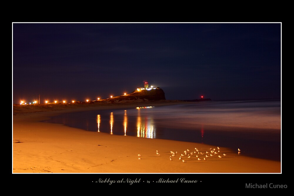 Nobbys at Night by Michael Cuneo
