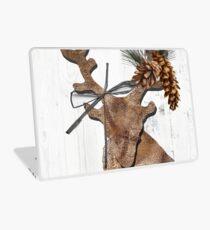 Rustic Holiday Burlap Deer Laptop Skin