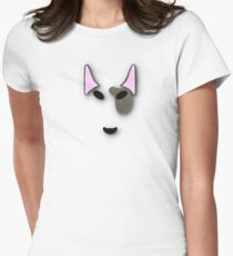 bull terrier. Women's Fitted T-Shirt