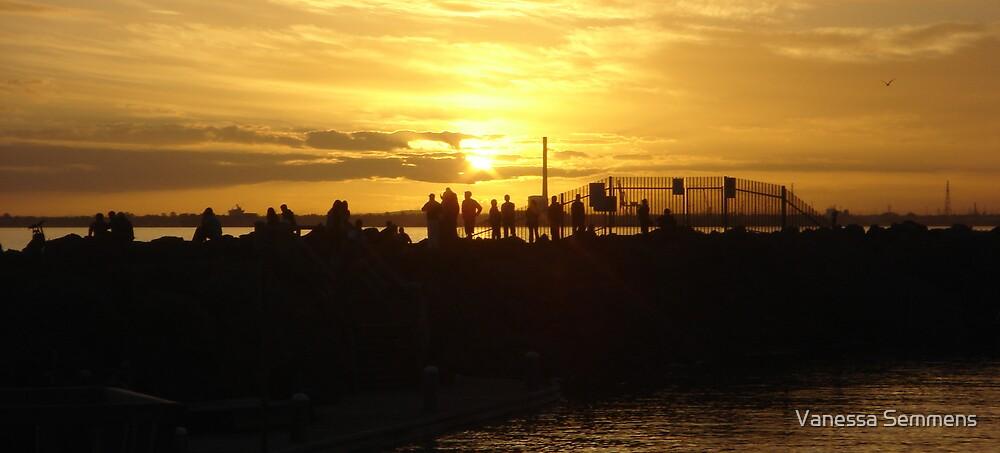 St Kilda Sunset by Vanessa Semmens