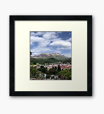 Overview of Queenstown Tasmania. Framed Print