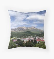 Overview of Queenstown Tasmania. Throw Pillow