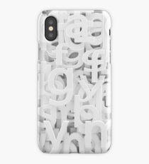 white  alphabet iPhone Case/Skin