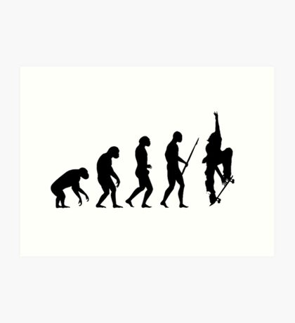 Evolution SKATE Art Print