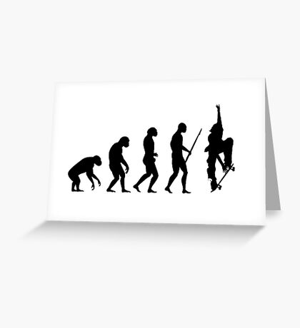 Evolution SKATE Greeting Card