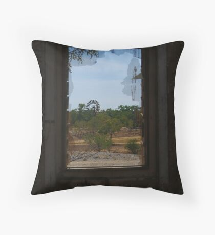 Ruin,Old Cork Station,Outback Queensland Throw Pillow