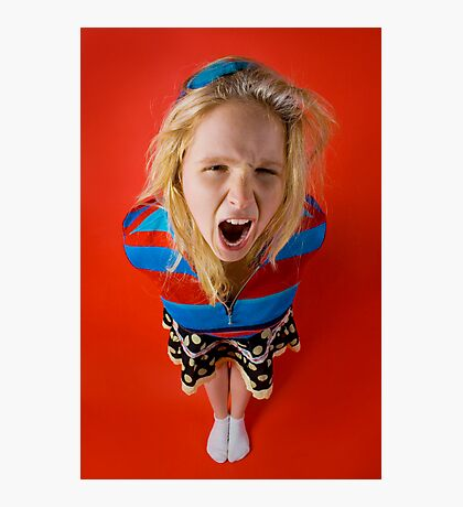 Angry Kid (Emily) Photographic Print
