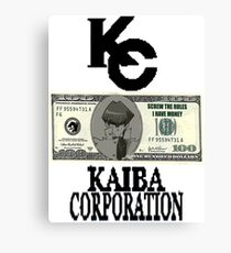 Kaiba Corporation - Screw The Rules  Canvas Print