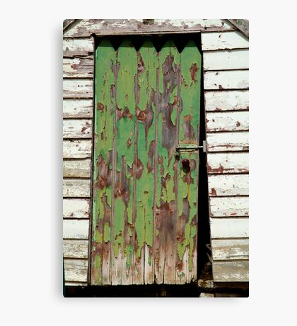 Out House, Dunny Door Canvas Print