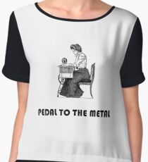 PEDAL TO THE METAL by Sugarchele23 Chiffon Top