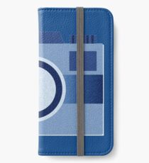 Retro Old-Time Camera, Blue iPhone Wallet/Case/Skin