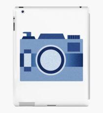 Retro Old-Time Camera, Blue iPad Case/Skin