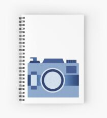 Retro Old-Time Camera, Blue Spiral Notebook