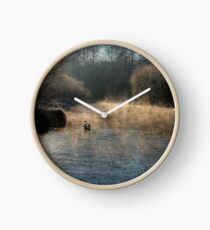 Swan in the Mist Clock