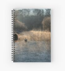 Swan in the Mist Spiral Notebook