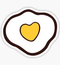 Love Hearts Fried Eggs Pattern Sticker