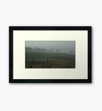Rain Storm, Mt Anakie Brisbane Ranges Framed Print