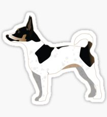 Rat Terrier Basic Dog Breed Silhouette Illustration Sticker