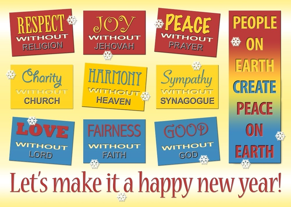 Atheist Greeting Card by Shani Sohn