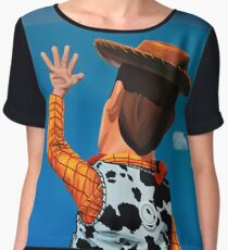 Woody of Toy Story Painting Chiffon Top