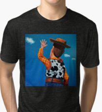 Woody of Toy Story Painting Tri-blend T-Shirt