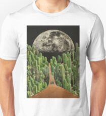 Road and cactus Unisex T-Shirt