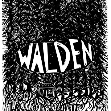 Walden Linocut by louweasely