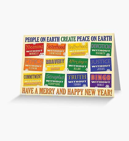 Atheist Greeting Card 2 Greeting Card