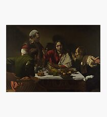 Caravaggio - The Supper At Emmaus Photographic Print