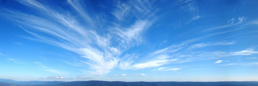 azul blue skies by Devan Foster